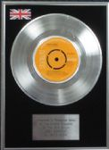 "David Bowie - 7"" Platinum Disc - Ziggy Stardust"